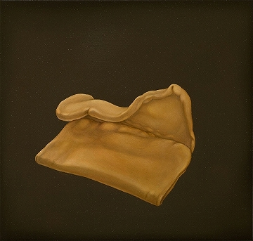 Alex Ball, Fold, oil on panel, 13x13.5cm, 2009